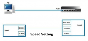 Duplex and Speed Setting on Switch 5