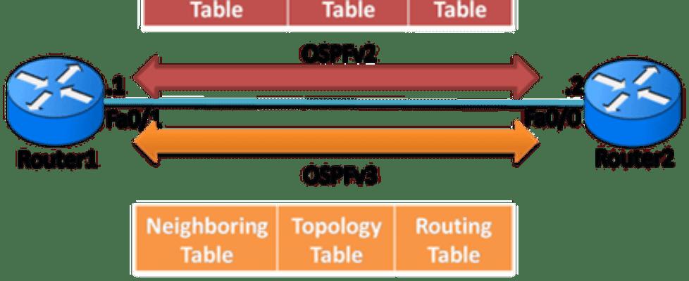 OSPFv3 vs OSPFv2