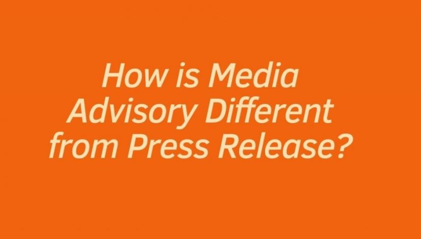 How is Media Advisory Different from Press Release