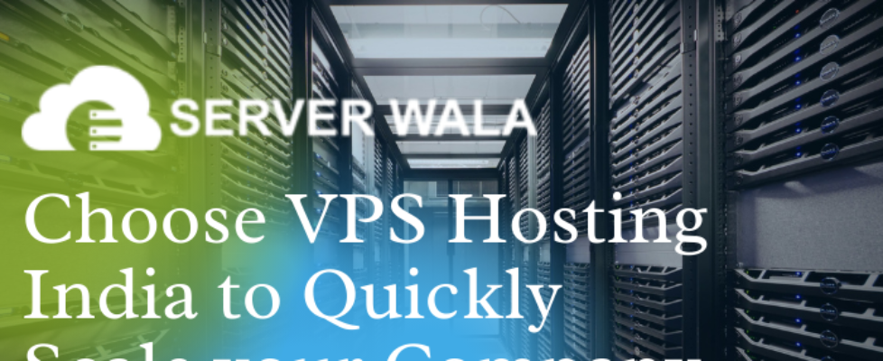 Choose VPS Hosting India from Serverwala to Quickly Scale your Company